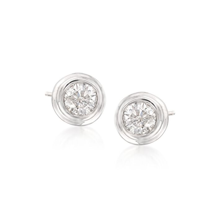 .75 ct. t.w. Diamond Double Bezel-Set Stud Earrings in 14kt White Gold, , default