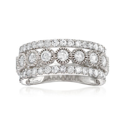 2.00 ct. t.w. Diamond Triple-Row Frame Ring in 14kt White Gold