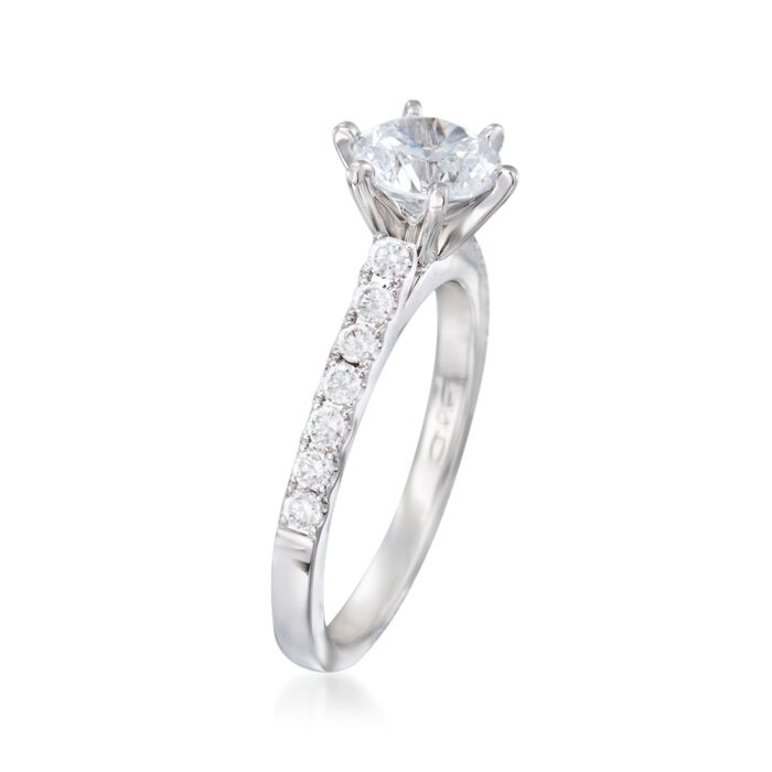 .37 ct. t.w. Diamond Engagement Ring Setting in 14kt White Gold