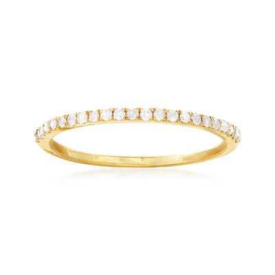 .15 ct. t.w. Diamond Stackable Ring in 14kt Yellow Gold, , default