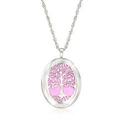 Tree of Life Locket Pendant Necklace, , default