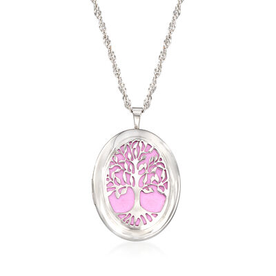 Tree of Life Locket Pendant Necklace, , default