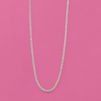2mm Sterling Silver Rope Chain Necklace, , default