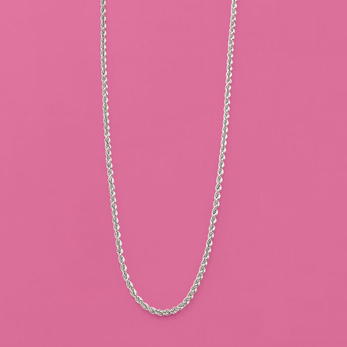 2mm Sterling Silver Rope Chain Necklace