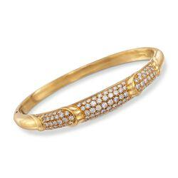 "C. 1995 Vintage Tiffany Jewelry 3.00 ct. t.w. Diamond Station Bracelet in 18kt Yellow Gold. 6.5"", , default"