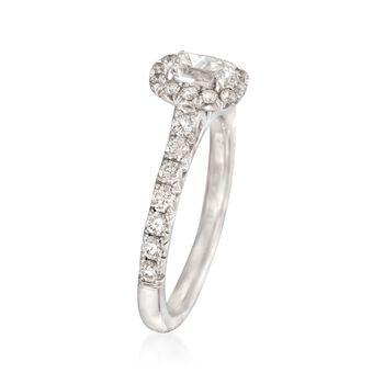 Henri Daussi 1.03 ct. t.w. Diamond Engagement Ring in 14kt White Gold, , default