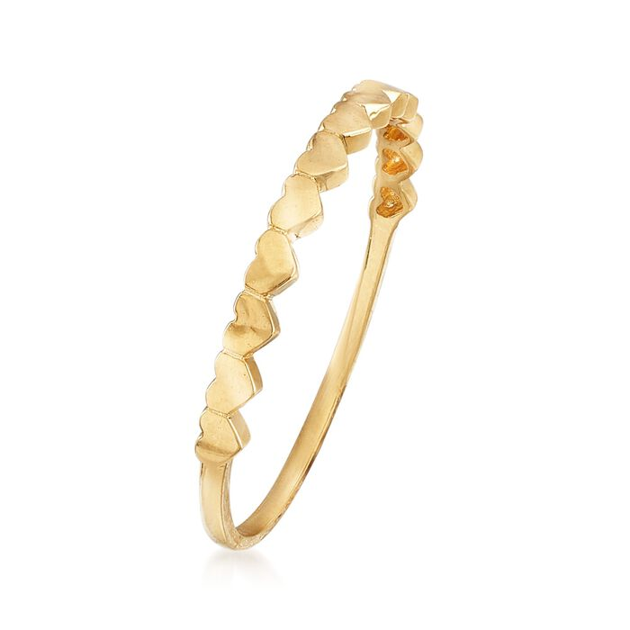 18kt Yellow Gold Multi-Heart Ring