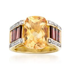 10.00 ct. t.w. Multi-Stone Ring in 14kt Gold Over Sterling, , default