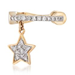 .13 ct. t.w. Diamond Star Single Ear Cuff in 14kt Yellow Gold , , default