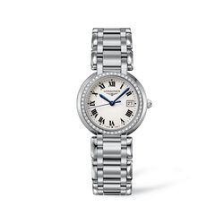 Longines Primaluna Women's 30mm .40 ct. t.w. Diamond Watch in Stainless Steel - Silver Dial, , default