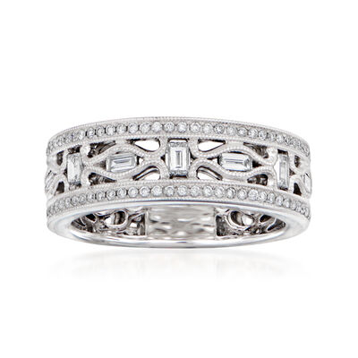 1.21 ct. t.w. Diamond Wedding Ring in 18kt White Gold