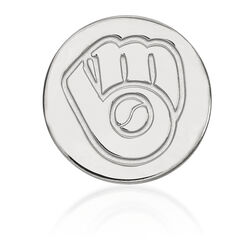 14kt White Gold MLB Milwaukee Brewers Lapel Pin, , default