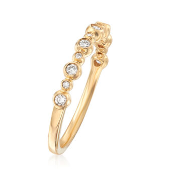 Henri Daussi .18 ct. t.w. Diamond Wedding Ring in 18kt Yellow Gold, , default