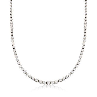 C. 1990 Vintage Tiffany Jewelry 12.00 ct. t.w. Diamond Tennis Necklace in Platinum, , default