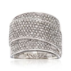 1.00 ct. t.w. Pave Diamond Wrap Ring in Sterling Silver, , default