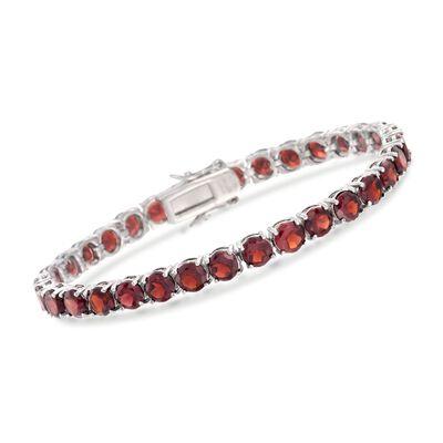 19.20 ct. t.w. Garnet Tennis Bracelet in Sterling Silver, , default