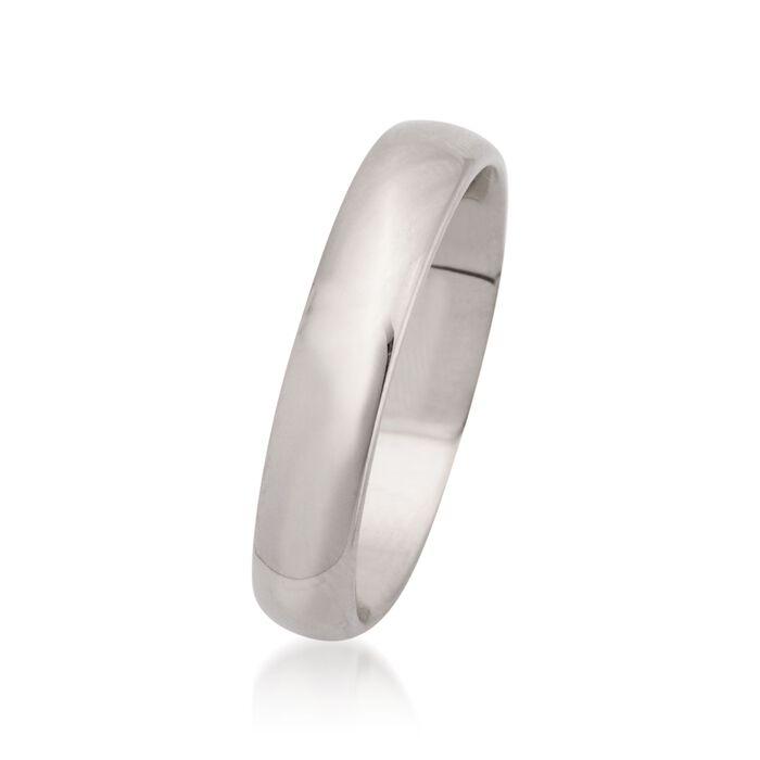 Women's 4mm 14kt White Gold Wedding Ring