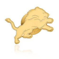 14kt Yellow Gold NFL Detroit Lions Lapel Pin, , default