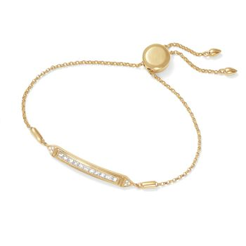 .51 ct. t.w. Diamond Bar Bolo Bracelet in 14kt Yellow Gold , , default
