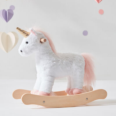 Child's Unicorn Doll Rocking Horse