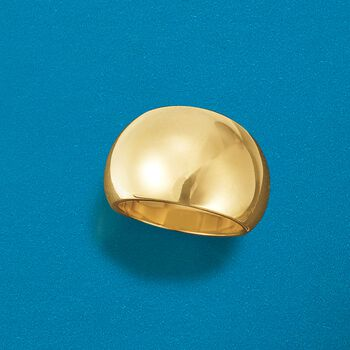 Andiamo 14kt Yellow Gold Dome Ring, , default