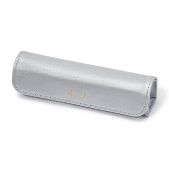 Royce Leather Three-Initial Pill Storage Case