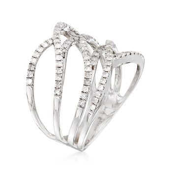 .50 ct. t.w. Diamond Multi-Row Open-Space Ring in Sterling Silver