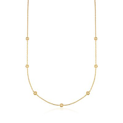 .20 ct. t.w. Diamond Necklace in 14kt Gold Over Sterling , , default