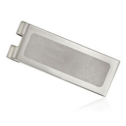 Stainless Steel Polished Laser-Cut Center Money Clip, , default
