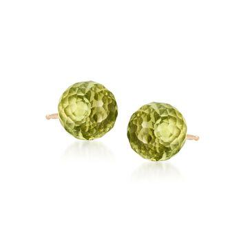 3.80 ct. t.w. Peridot Stud Earrings in 14kt Yellow Gold, , default