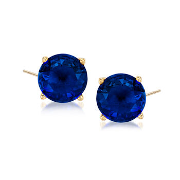 3.80 ct. t.w. CZ and 11.40 ct. t.w. Simulated Multi-Gemstone Jewelry Set: Four Pairs of Stud Earrings, , default