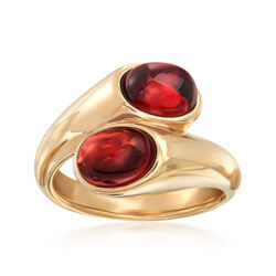 4.50 ct. t.w. Garnet Bypass Ring in 14kt Yellow Gold, , default