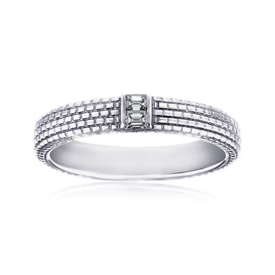 Men's .12 ct. t.w. Diamond Wedding Ring in 14kt White Gold, , default