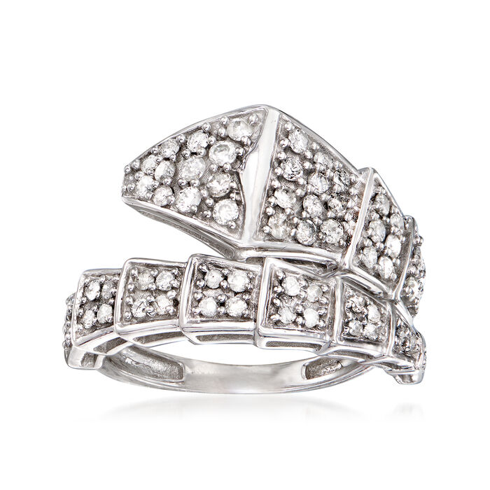 .75 ct. t.w. Diamond Bypass Ring in Sterling Silver, , default