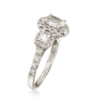 Henri Daussi 2.14 ct. t.w. Certified Diamond Engagement Ring in 18kt White Gold, , default