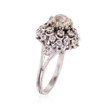 C. 1920 Vintage 2.11 ct. t.w. Diamond Cluster Ring in Platinum. Size 6.25, , default