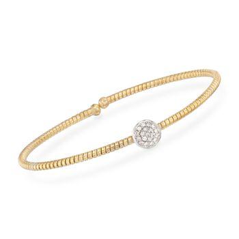 "Simon G. .15 ct. t.w. Diamond Circle Bracelet in 18kt Yellow Gold. 7"", , default"