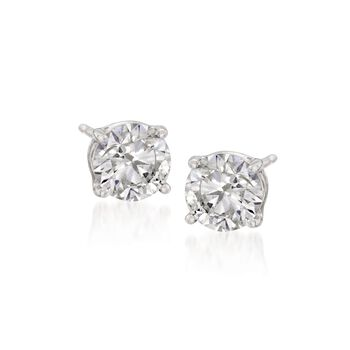 1.00 ct. t.w. Synthetic Moissanite Stud Earrings in 14kt White Gold , , default