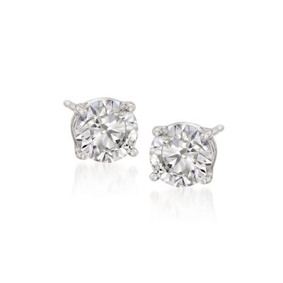 1.00 ct. t.w. Synthetic Moissanite Stud Earrings in 14kt White Gold, , default