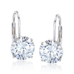 4.00 ct. t.w. CZ Drop Earrings in Sterling Silver , , default