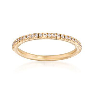 Henri Daussi .15 ct. t.w. Diamond Wedding Ring in 14kt Yellow Gold, , default