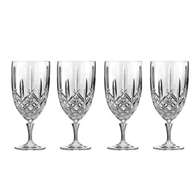 "Marquis by Waterford Crystal ""Markham"" Set of 4 Iced Beverage Glasses from Italy"