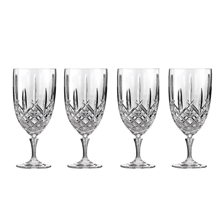 """Marquis by Waterford Crystal """"Markham"""" Set of 4 Iced Beverage Glasses from Italy"""