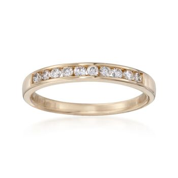 .25 ct. t.w. Channel-Set Diamond Ring in 14kt Yellow Gold, , default