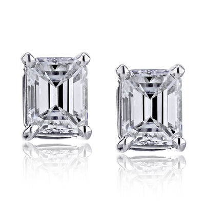 2.90 ct. t.w. Diamond Stud Earrings in 14kt White Gold, , default