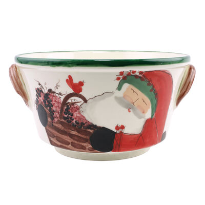 "Vietri ""Old St. Nick"" Celebration Bucket from Italy"