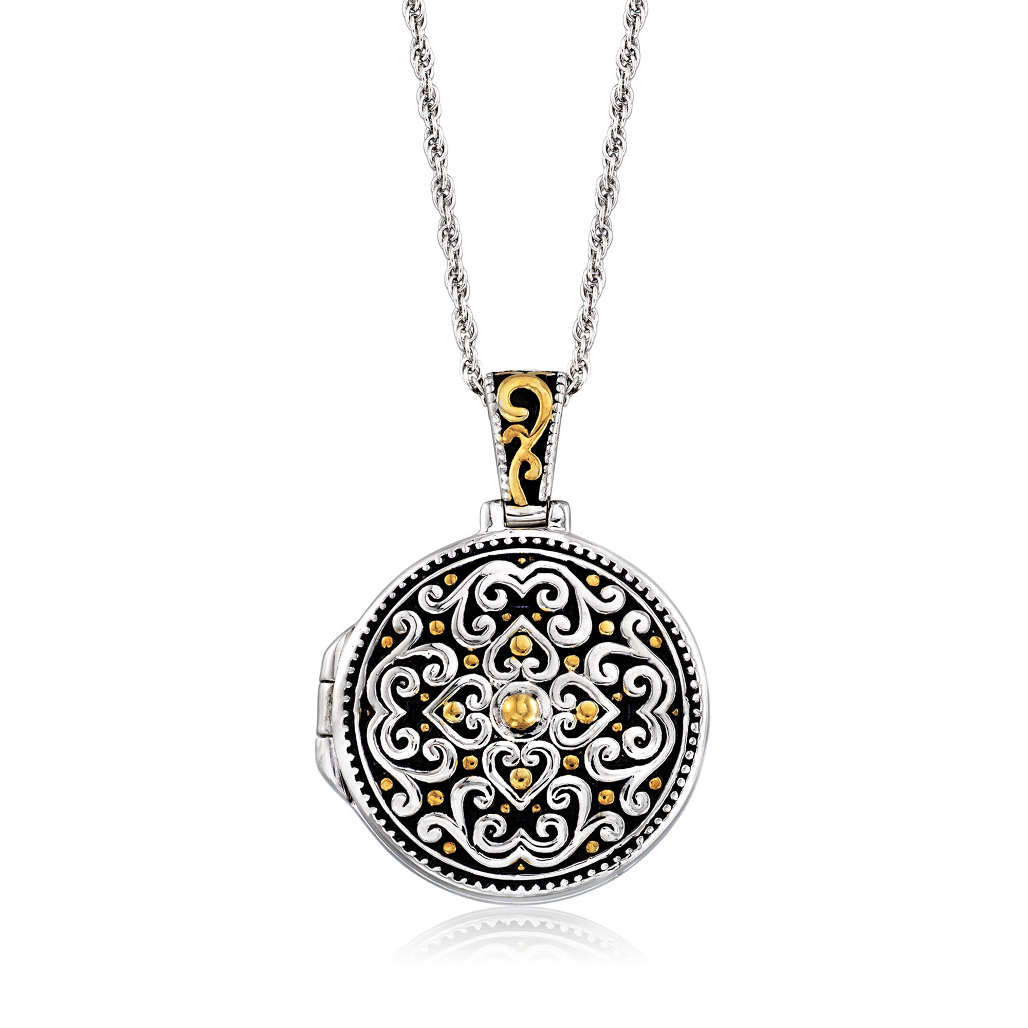 SS BALI TYPE ROUND PENDANT # W//18 SILVER CHAIN Sterling Silver