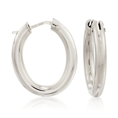 Roberto Coin 18kt White Gold Hoop Earrings, , default