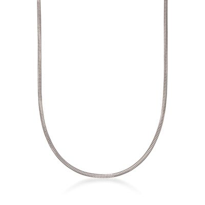 Italian Sterling Silver Snake Chain Necklace, , default