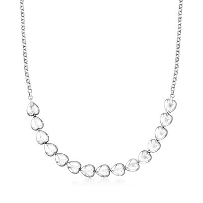 Italian Sterling Silver Heart Center Necklace